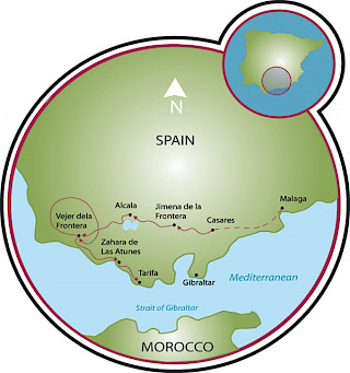 Coastal Andalusia Map
