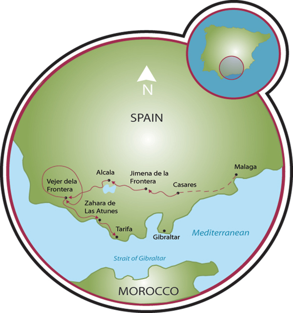 Coastal Andalusia Bike Tour Spain Tripsite - Andalusia map