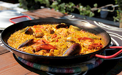Seafood paella to help fuel your bike ride! Flickr:Michela Simoncini