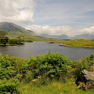 Lake and mountains and valleys abound in Connemara, Ireland. Photo via Flickr:zenithe