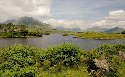 Lake and mountains and valleys abound in Connemara, Ireland. Flickr:zenithe
