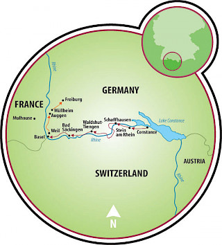 Constance to Basel Map