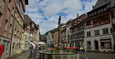 Biking through the old city in Stein am Rhein, Switzerland. Photo via Wikimedia Commons:chensiyuan