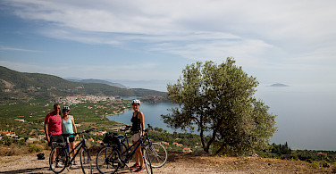 Cycling views on the Cyclades Islands bike tour.