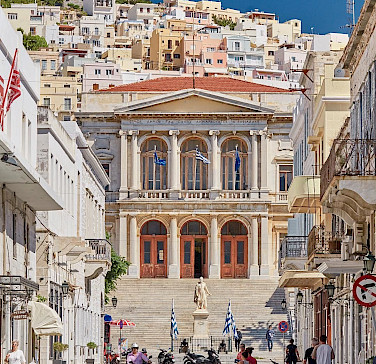 City Hall, Miaoulis Square, Ermoupolis, Syros Island, Greece. Photo via Flickr:Lucian Niculescu
