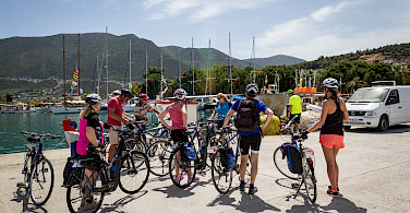 Ready, set, bike in Palea-Epidavros, Cyclades Islands, Greece.