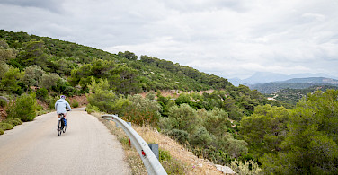 Biking Poros Island, Greece.