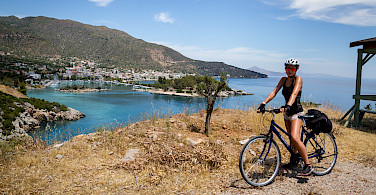 Overlooking Spetses, Cyclades Islands, Greece.