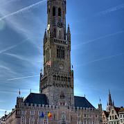 Por volta da romântica Bruges Foto