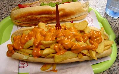 "Traditional Belgian fast food sandwich, a ""mitraillette."" Flickr:Daniele Pesaresi"