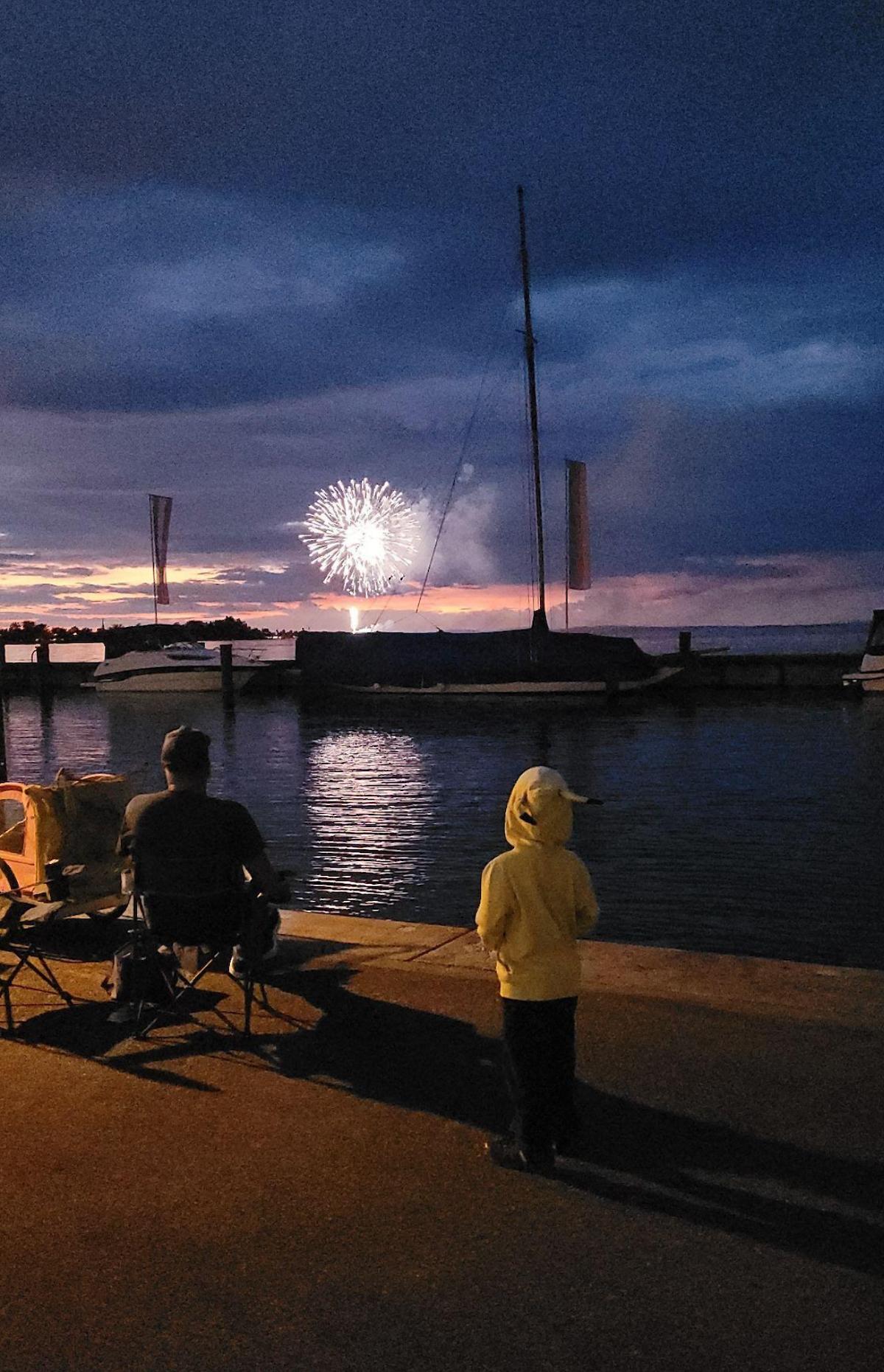 Fireworks over Lake Constance