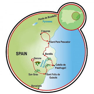 Costa Brava - País de Dali Map