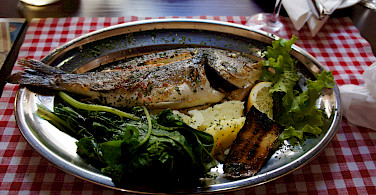 Fresh fish to fuel the bike tour on the Dalmatian Coast in Croatia. Photo via Flickr:brownpau