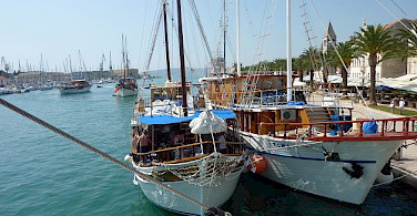 Boats docked in Croati. Photo by Hubert Schledt