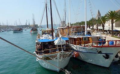 Boats docked in Croati. Photo by Hubert Schledt