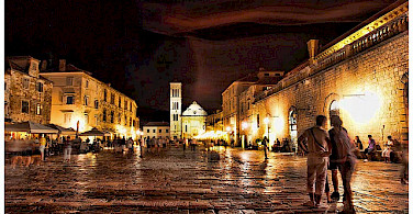 Nighttime in Hvar, Croatia. Photo via Flickr:Mario Fajt