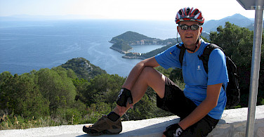 Jan VandenHengel enjoying the view of Lastovo, Croatia.