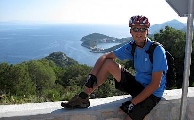 Jan VandenHengel enjoying the view of Lastovo, Croatia.
