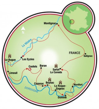 Discover the Dordogne-old version Map