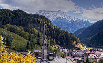 Town in the Dolomites, Italy. ©holland fotograaf