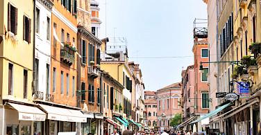 Shopping the streets of Venice, Veneto, Italy.