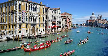 Grand Canal in Venice, Veneto, Italy. Photo via Flickr:Jean-Pierre Dalbera