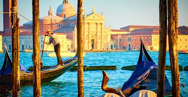 Gondolas in Venice, Italy. Photo via Flickr:Moyan Brenn
