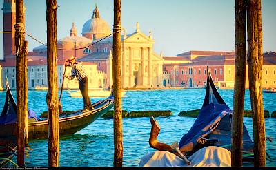 Gondolas in Venice, Italy. Flickr:Moyan Brenn