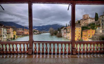 On the Ponte degli Alpini in Bassano del Grappa, Veneto, Italy. Photo via Flickr:Salva Barbera