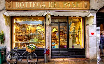 Bike rest in Bassano del Grappa, Italy. Photo via Flickr:Salva Barbera