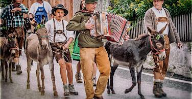 Festival in Toblach in province South Tyrol, region Trentino-Alto Adige, Italy. Photo via Flickr:Paolo Piscolla