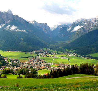 Toblach amongst the Dolomites, Italy. Photo via Flickr:Marco