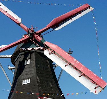 Windmills aplenty in Drenthe, Holland. Photo courtesy of Netherlands Board of Tourism