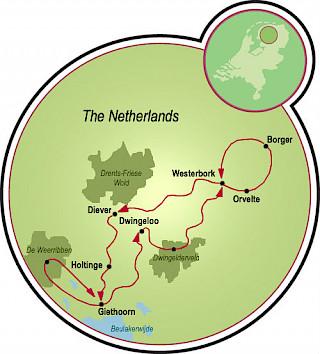 Drenthe - A Veneza Holandesa Map