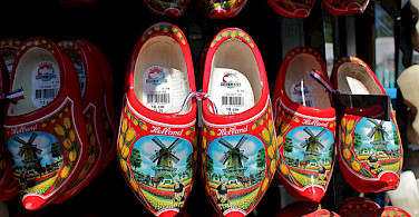 """Holland's famous """"klompen"""" being sold as souvenirs. Photo via Flickr:Anne Swoboda"""
