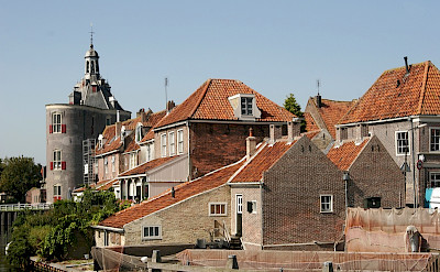 Red roofs common in Holland. Photo courtesy of Netherlands Board of Tourism