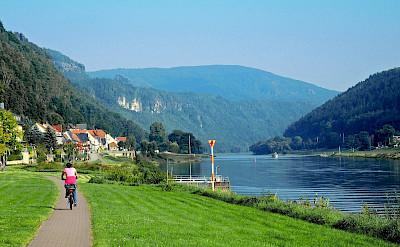 Along the Elbe River in Bad Schandau, Germany. Flickr:Klaus