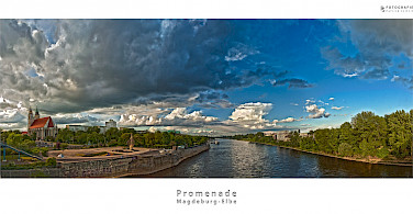 Magdeburg Promenade along the Elbe River, Germany. Flickr:Patrick Seifert Fotografie