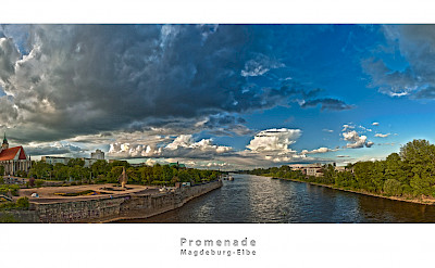 Magdeburg Promenade along the Elbe River, Germany. Flickr:Patrick Seifert Fotografie
