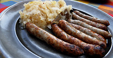 Sausages and sauerkraut are a favorite in Germany. Flickr:Eviyani Lubis