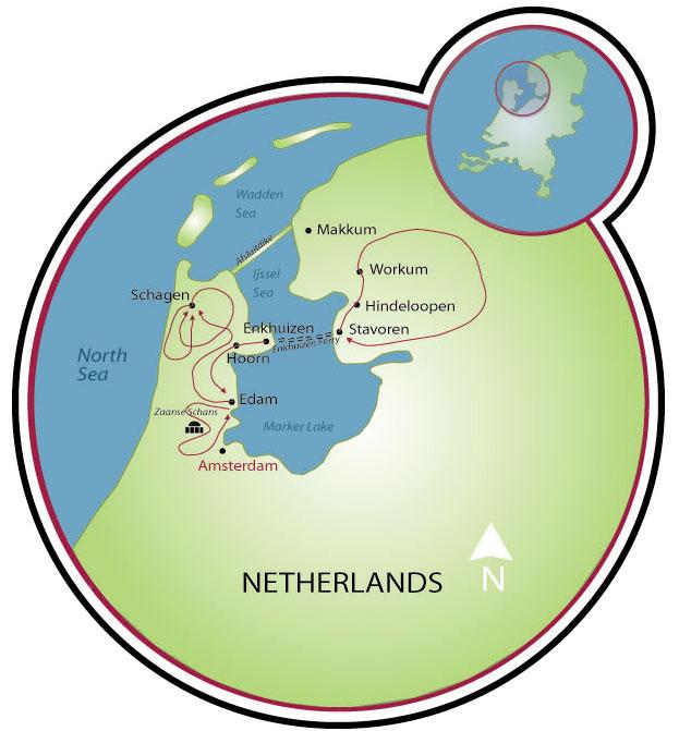 Dutch Highlights Tulip Bike Tour Netherlands Tripsite
