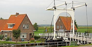 Lift bridge in Edam, North Holland, the Netherlands. Photo via Flickr:Dennis Jarvis