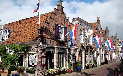 Bike rest in Edam, North Holland, the Netherlands.