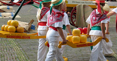 Kaasmarkt or cheese market in Edam, of course. Photo courtesy of the Netherlands Board of Tourism