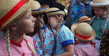 Girls all dressed up in Schagen in the region of West Friesland, Holland. Photo via Flickr:Hans Griep