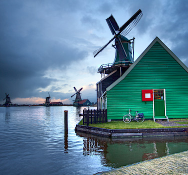 Zaanse Schans in Zaandam, the Netherlands. Photo via Flickr:Anne Dirkse