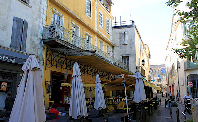 The Arles cafe in van Gogh's famous painting. Flickr:Andy Hay