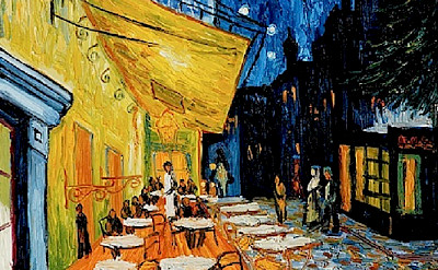 The famous cafe in Arles that Van Gogh painted on the Place du Forum, which you can still visit!