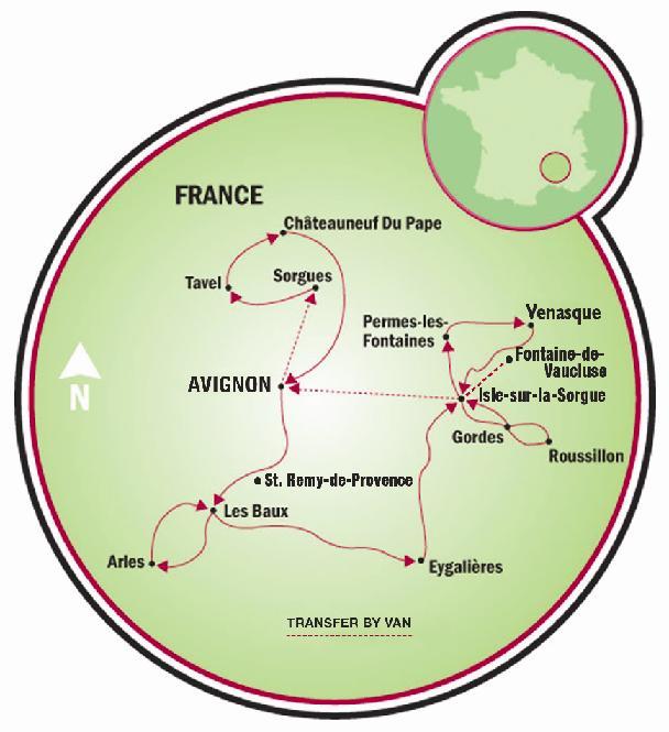Tour en bici pueblos famosos de provenza francia tripsite - Hoteles en la provenza ...