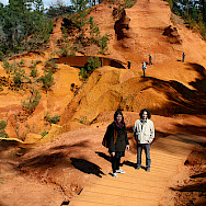 The famous red ochre deposits in Roussillon, France. Flickr:David Locke